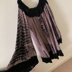 Tie Dye off the shoulder summer dress